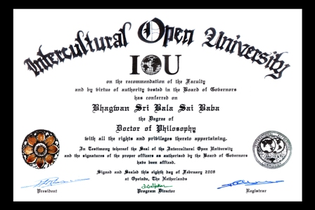 Doctor of Philosophy - Netherlands Opeinde